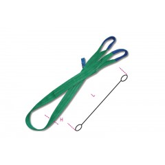 Lifting web slings, green 2t two layers with reinforced eyes high-tenacity polyester (PES) belt - Beta 8153