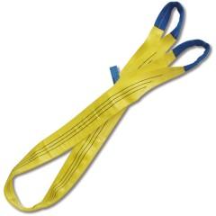 Brache per sollevamento 3t giallo nastro piatto a due strati, asole rinforzate, poliestere alta tenacità (PES) - Robur 8156