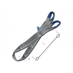 Brache per sollevamento 4t grigio nastro piatto a due strati, asole rinforzate, poliestere alta tenacità (PES) - Robur 8157