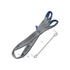 Lifting web slings, grey 4t two layers with reinforced eyes high-tenacity polyester (PES) belt - Beta 8157