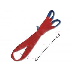 Brache per sollevamento 5t rosso nastro piatto a due strati, asole rinforzate, poliestere alta tenacità (PES) - Robur 8158