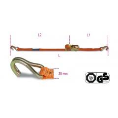 Sistemi di ancoraggio a cricchetto LC 1000kg nastro in poliestere ad alta tenacità (PES) ganci a uncino - Robur 8181