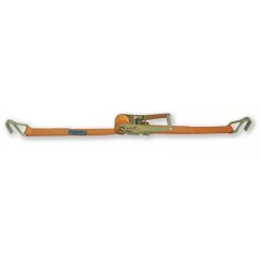 Ratchet tie down with single hook, LC 2500kg, high-tenacity polyester (PES) belt - Beta 8182H