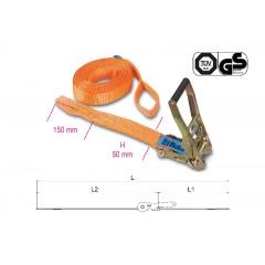 Sistemi di ancoraggio a cricchetto con 2 asole nastro in poliestere ad alta tenacità (PES) LC 2000kg - Robur 8182A