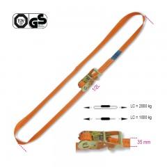 Sistemi di ancoraggio ad anello LC 2000kg con cricchetto tenditore nastro in poliestere ad alta tenacità (PES) - Robur 8186
