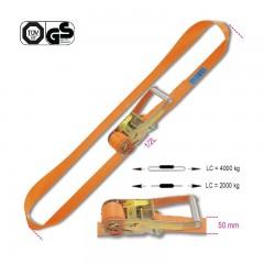 Sistemi di ancoraggio ad anello LC 4000kg con cricchetto tenditore nastro in poliestere ad alta tenacità (PES) - Robur 8187