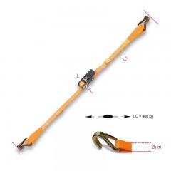 Sistemi di legatura con ganci uncino, cricchetto tenditore LC 400kg nastro in poliestere ad alta tenacità ... - Robur 8188CU/25