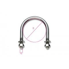 Collari per sostegno tubazioni, acciaio inox - Robur 8381SX