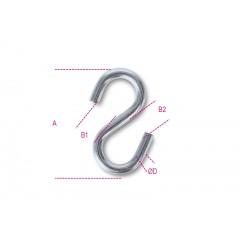 """Ganci a """"S"""" simmetrici inox AISI 316 - Robur 8282S"""