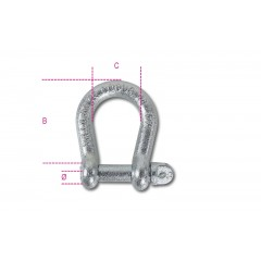 Grilli per sollevamento a lira acciaio al carbonio zincati - Robur 8028-K