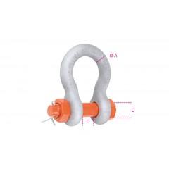 Grilli per sollevamento a lira con dado e copiglia acciaio legato ad alta resistenza staffa zincata a caldo - Robur 8031R-K