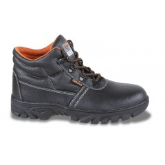 Leather ankle shoe, waterproof,  with durable rubber outsole  and quick opening system - Beta 7243CR