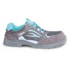 Perforált női hasítottbőr cipő, mesh betéttel - Beta 7212LG