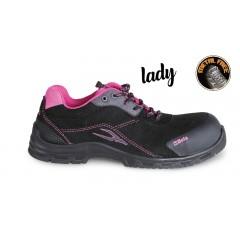 Women's suede shoe, waterproof, with anti-abrasion insert in toe cap area - Beta 7214LN