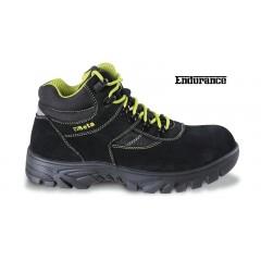 Scarpe alte in pelle scamosciata con inserti in nylon, suola in gomma ad alta resistenza e rapido sfilamen... - BetaWORK 7238WR