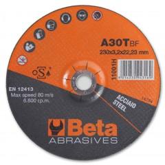 Dischi abrasivi da taglio per acciaio Esecuzione a centro depresso Dischi da utilizzare con smerigli... - BetaABRASIVES 11001H