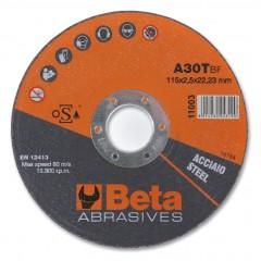 Dischi abrasivi da taglio per acciaio Esecuzione a centro piano Dischi da utilizzare con smerigliatri... - BetaABRASIVES 11003