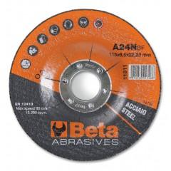 Dischi abrasivi da sbavo per acciaio Esecuzione a centro depresso  Dischi da utilizzare con smerigliat... - BetaABRASIVES 11011