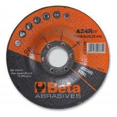 Dischi abrasivi da sbavo per acciaio Esecuzione a centro depresso  Dischi da utilizzare con smeriglia... - BetaABRASIVES 11011H