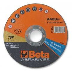 Dischi abrasivi da taglio per acciaio e inox Esecuzione di spessore sottile e a centro piano Dischi d... - BetaABRASIVES 11036
