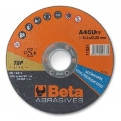 Dischi abrasivi da taglio per acciaio e inox Esecuzione di spessore sottile e a centro piano Dischi d... - BetaABRASIVES 11038