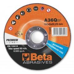Dischi abrasivi da taglio per acciaio e inox Esecuzione di spessore sottile e a centro depresso Disch... - BetaABRASIVES 11040