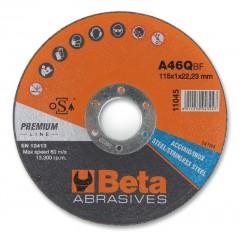 Dischi abrasivi da taglio per acciaio e inox Esecuzione di spessore sottile e a centro piano Dischi d... - BetaABRASIVES 11047