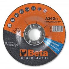 Dischi abrasivi da sbavo per acciaio e inox Esecuzione a centro depresso  Dischi da utilizzare con sme... - BetaABRASIVES 11023