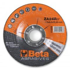 Dischi abrasivi da taglio per acciaio e ghisa Esecuzione allo zirconio e a centro depresso  Dischi da ... - BetaABRASIVES 11050
