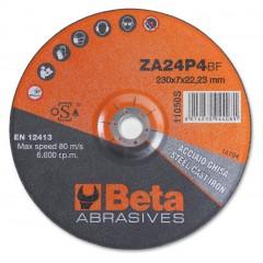 Dischi abrasivi da taglio per acciaio e ghisa Esecuzione allo zirconio e a centro depresso  Dischi da... - BetaABRASIVES 11050S