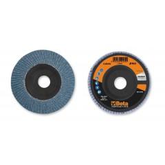 Dischi lamellari con tela abrasiva allo zirconio Supporto in plastica e lamella singola - BetaABRASIVES 11200A