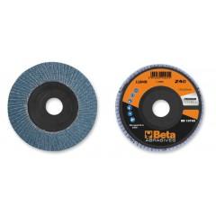 Dischi lamellari con tela abrasiva allo zirconio Supporto in plastica e lamella singola - BetaABRASIVES 11200B