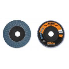 Dischi lamellari con tela abrasiva allo zirconio Supporto in plastica e lamella doppia - BetaABRASIVES 11202A