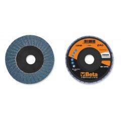 Dischi lamellari con tela abrasiva allo zirconio Supporto in plastica e lamella doppia - BetaABRASIVES 11202B