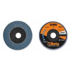 Dischi lamellari con tela abrasiva allo zirconio Supporto in fibra di vetro e lamella singola - BetaABRASIVES 11204A