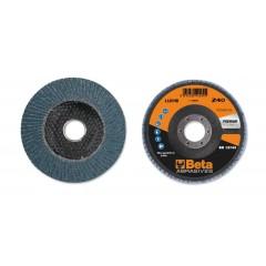 Dischi lamellari con tela abrasiva allo zirconio Supporto in fibra di vetro e lamella singola - BetaABRASIVES 11204B