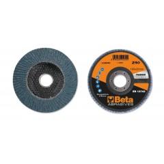 Dischi lamellari con tela abrasiva allo zirconio Supporto in fibra di vetro e lamella singola - BetaABRASIVES 11204C