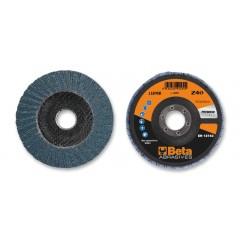Dischi lamellari con tela abrasiva allo zirconio Supporto in fibra di vetro e lamella doppia - BetaABRASIVES 11208B