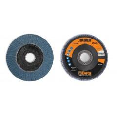 Dischi lamellari con tela abrasiva allo zirconio Supporto in fibra di vetro e lamella singola - BetaABRASIVES 11210A