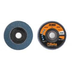Dischi lamellari con tela abrasiva allo zirconio Supporto in fibra di vetro e lamella singola - BetaABRASIVES 11210B