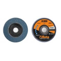Dischi lamellari con tela abrasiva allo zirconio Supporto in fibra di vetro e lamella singola - BetaABRASIVES 11210C