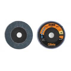 Dischi lamellari con tela abrasiva allo zirconio Supporto in plastica e lamella singola - BetaABRASIVES 11212A