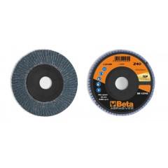 Dischi lamellari con tela abrasiva allo zirconio Supporto in plastica e lamella singola - BetaABRASIVES 11212B
