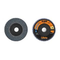 Dischi lamellari con tela abrasiva allo zirconio Supporto in plastica e lamella doppia - BetaABRASIVES 11214A