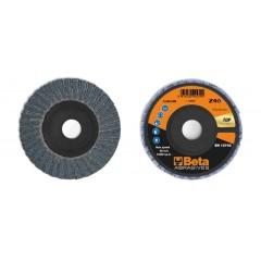 Dischi lamellari con tela abrasiva allo zirconio Supporto in plastica e lamella doppia - BetaABRASIVES 11214B