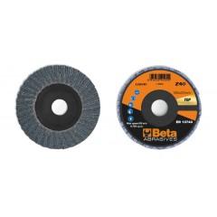 Dischi lamellari con tela abrasiva allo zirconio Supporto in plastica e lamella doppia - BetaABRASIVES 11214C