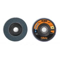 Dischi lamellari con tela abrasiva allo zirconio Supporto in fibra di vetro e lamella singola - BetaABRASIVES 11216A