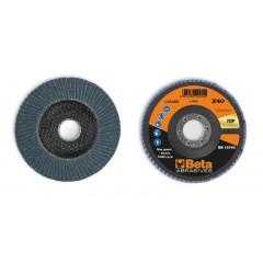 Dischi lamellari con tela abrasiva allo zirconio Supporto in fibra di vetro e lamella singola - BetaABRASIVES 11216B