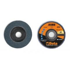 Dischi lamellari con tela abrasiva allo zirconio Supporto in fibra di vetro e lamella singola - BetaABRASIVES 11216C