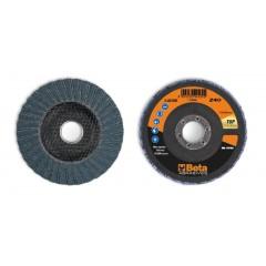 Dischi lamellari con tela abrasiva allo zirconio Supporto in fibra di vetro e lamella doppia - BetaABRASIVES 11218A